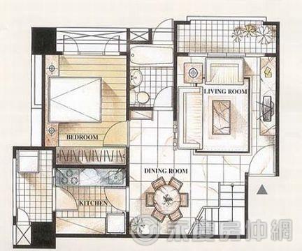 建筑120平方楼中楼设计图